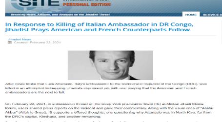 إشادة الجهاديين بمقتل السفير الإيطالي في جمهورية الكونغو الديمقراطية