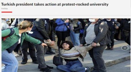 وكالة (أسوشيتد برس) الأمريكية :الرئيس التركي يتخذ إجراءات بشأن الجامعة التي تشهد احتجاجات