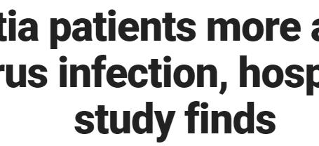 مرضى الخرف أكثر عرضة لخطر الإصابة بفيروس كورونا