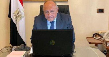 سامح شكري يجرى اتصالاً هاتفياً مع وزيرة الخارجية السودانية الجديدة