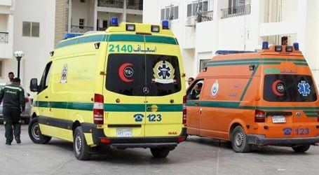 تصادم 3 أتوبيسات بالإسماعيلية وإصابة 55 شخصا