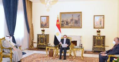 الرئيس السيسي يتسلم رسالة خطية من أمير دولة الكويت