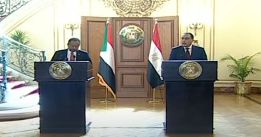 الدكتور مصطفى مدبولى رئيس الوزراء ونظيره السودانى