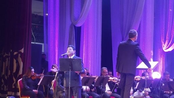هاني شاكر في جانب من الاحتفالية بورسعيد 2