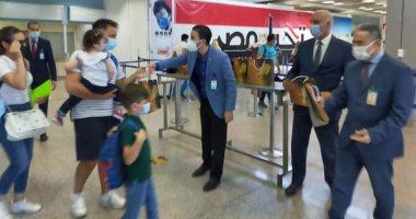 استقبال أولى الرحلات الايطالية بمطار شرم الشيخ
