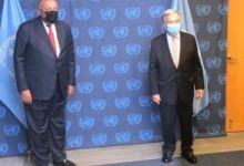 وزير الخارجية سامح شكرى يلتقى جوتيريش