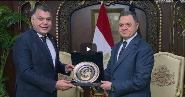 اللواء محمود توفيق وزير الداخلية ونظيره الليبي