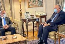 وزير الخارجية سامح شكرى يستقبل نائب رئيس المجلس الرئاسي الليبي